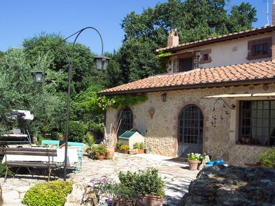 Photo for Wonderful private villa for 8 guests with private pool, WIFI, TV, balcony, pets allowed and park...