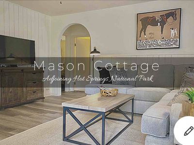 Photo for Contemporary Cottage adjoining the National Park! King Bed, Wifi, Deck & Grill!
