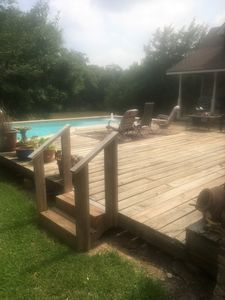Photo for San Bernard Retreat , Riverfront , Pool, Large Deck, Dock , Boat ramp access