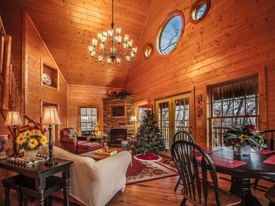 Photo for Sugar Bear Retreat Chalet | Mountain Views | Hot Tub | Pool Table | Fire Pit | Sleeps 14