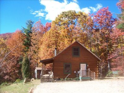 Photo for Secluded and private/ Hot Tub/Wood Fire-place/15 min-downtown Asheville/wifi/