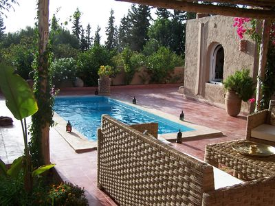 Photo for RIAD DAR ZWINA'entierement enclosed, private pool in shelters glance