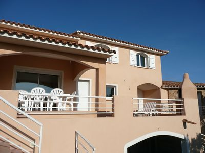 Photo for Modern and spacious villa with swimming pool nearby sea and mountains
