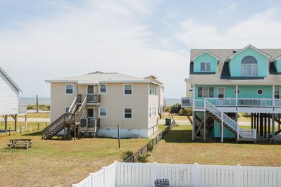 Ocean views from both the back porch and two bedrooms!
