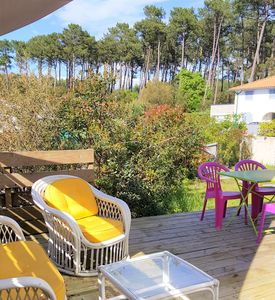 Photo for 60 m² QUIET, RECENT, PINÈDE AND BOURG / beaches 3km / bbq + bikes + wifi / Classified 3 *