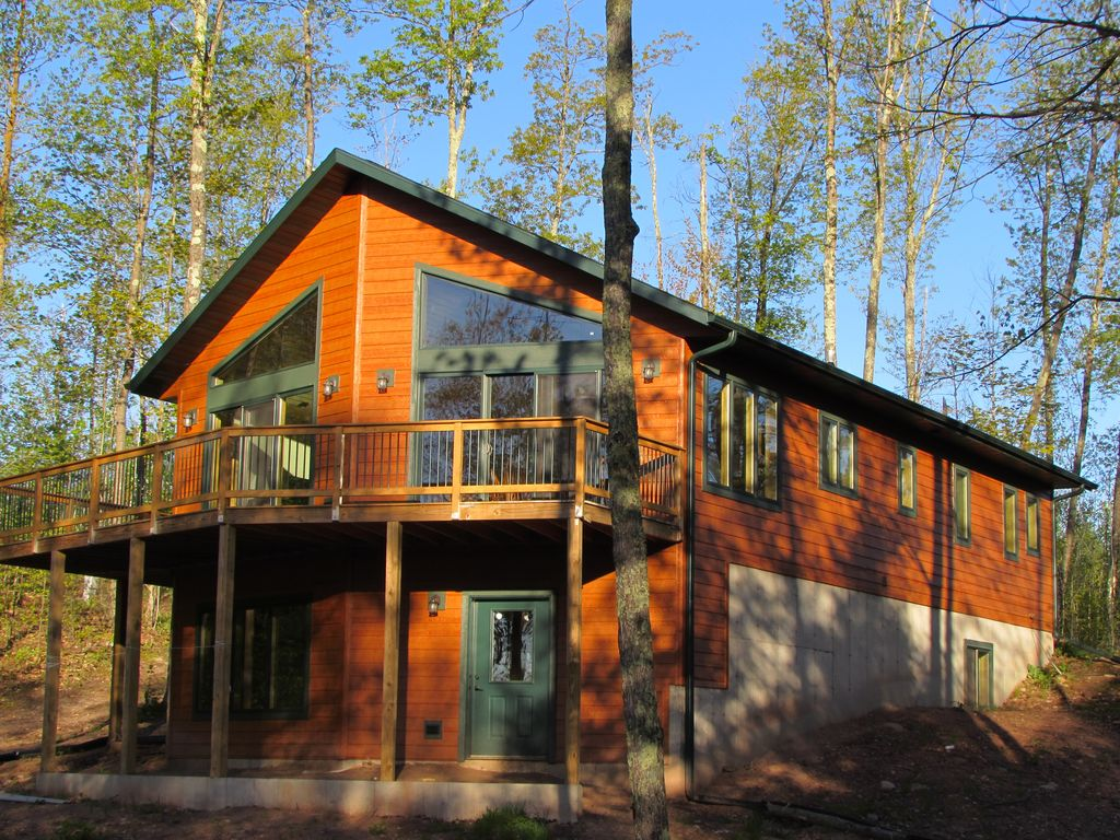 Secluded Cabin On Private Lake Great HomeAway Hayward - And architectural cottages on secluded private pond homeaway