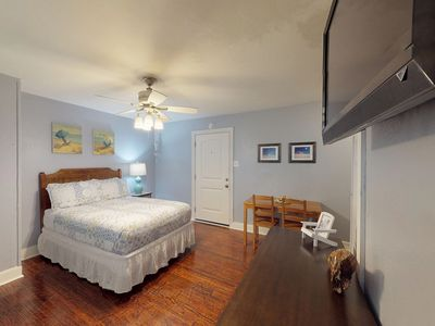 Photo for Dog-friendly apartment w/ shared patio, firepit & hammocks - close to the beach!