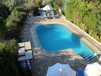Photo for Villa with secluded private pool & garden and stunning sea & mountain views.