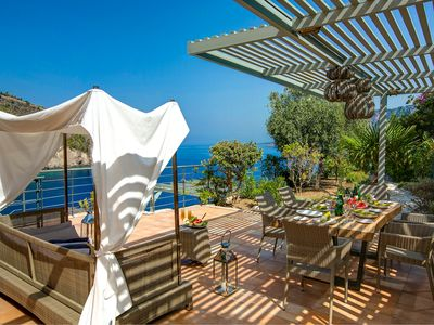 Photo for Sea Front Villa With Private Pool and Magical Sea Views in Assos