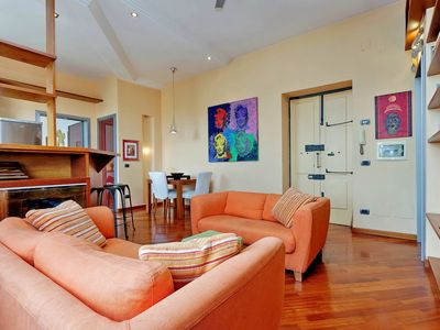 Photo for Bright and colorful two bedroom apartment in Rome