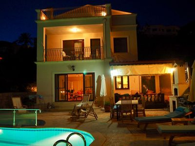 Villa Hilal at night