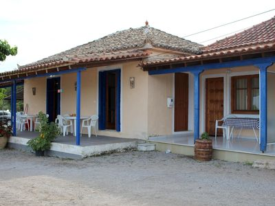 Photo for Calm, idyllic and close to the beach - holiday house with nice sea view | Messen