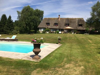Photo for Large Thatched Cottage with Pool