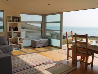 Photo for Family Friendly Chalet With Wonderful Sea Views, 100m From The Beach