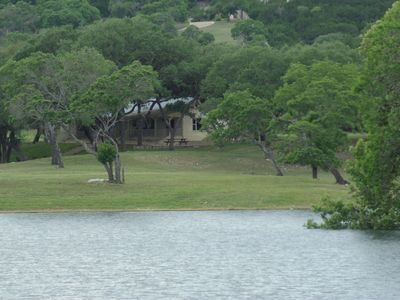 Photo for Beautiful house on 10 acre private lake stocked with bass, 4.5 miles from Boerne