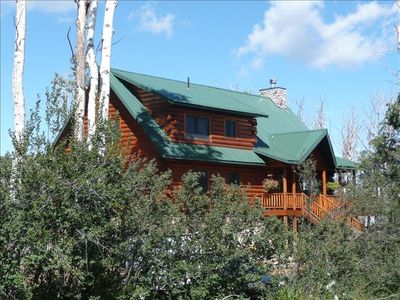 Photo for Luxury Log Cabin Powderhorn Ski Resort! Spa, Fireplace, Views