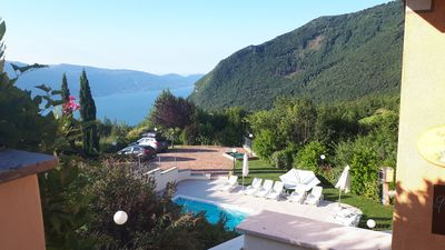 Photo for Nice 3 bedroom app. in a residence with pool and fantastic lake view