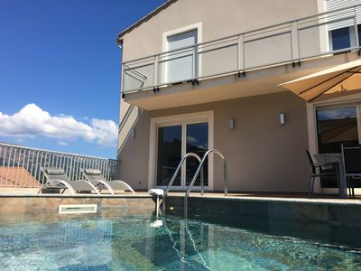 Photo for New contemporary house with pool between Sea and Mountain - Corse-du-Sud