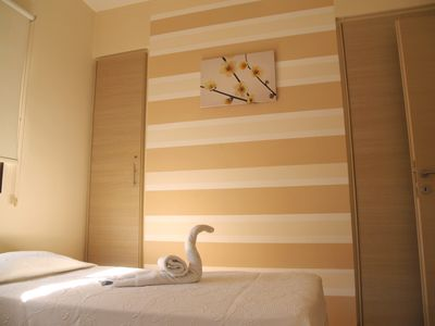 Photo for Kyklades Resort DPSAH04-Two Bed Apt-WiFi-Swimming Pool-Gym-Tennis-Playground-Spa