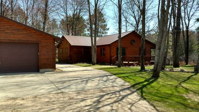 Photo for Private Log Cabin, Northern Michigan, Stay on the Manistee River