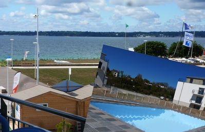 Photo for Apart. Standing ***, sea view, 2/3 Pers. Heated pool. Wireless