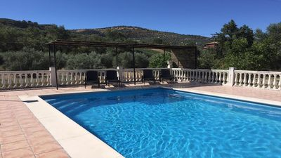 Photo for Lovely country house, walking distance to Montefrio, with private, gated pool