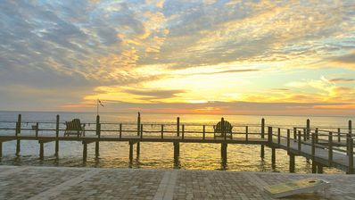 fishing pier on property. - Great Sunrise and sunsets!