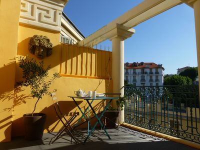 Photo for Art Deco top floor apartment renovated, sun terrace, panoramic view,10mn beaches