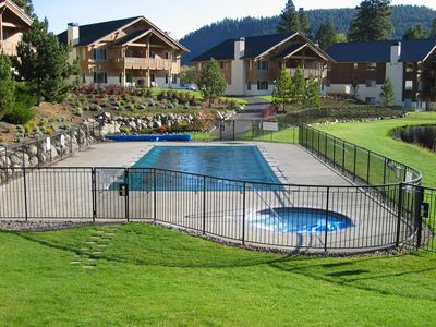 Photo for Spacious Updated Condo 10 Min. Walk to Town; Views, Seasonal Pool,Yr Rd Hot Tub