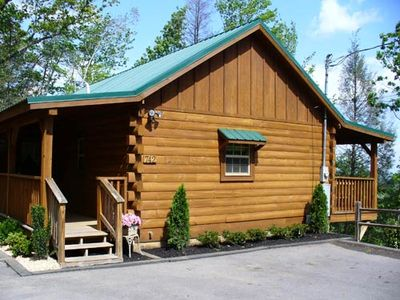 Photo for A true couple's paradise! This cabin is spacious & has everything you need for a Romantic Getaway.