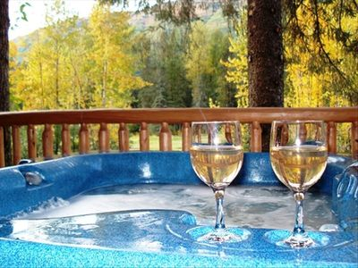 Enjoy this beautiful Hot Tub after a day of either skiing or hiking