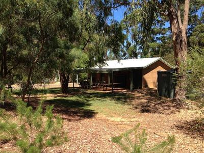 Photo for Freckle Park Rammed Earth Bush Cottage pet & bike friendly, no cleaning fee.