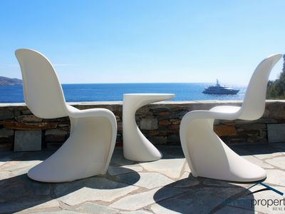Photo for Romantic and cozy house on the waterfront in the area of Koundouros, Kea