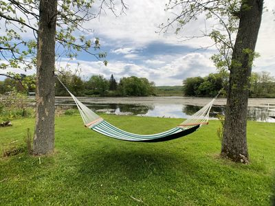 Hang the hammock and relax while your troubles melt away