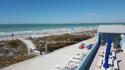 Photo for Beachfront Condo in Belleair Beach ! Pool/Gulf view, just steps to the sand