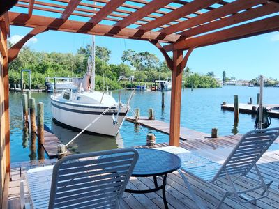 Photo for Water Front Sea Waves Cottage With Private Dock, Access To  Bimini Bay