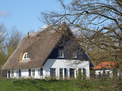 Photo for generous thatched cottage (160 m²) on the Baltic Sea, sauna, stove, forest edge location