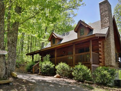 Photo for Smoky Mountain View! Private cabin with Hot Tub, Pool Table-Free Access to Resort Amenities on Site!
