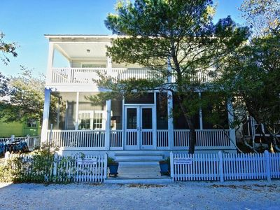 Photo for 6 Houses to Beach, Great Porches, in Seaside Proper. Mama's Happy
