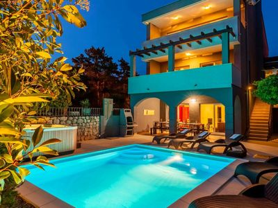 Photo for This 6-bedroom villa for up to 14 guests is located in Crikvenica and has a private swimming pool, a