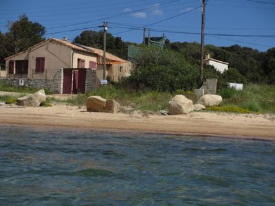 Photo for villa with garden on the edge of the water in the Gulf of santa manza 6 km from Bonifacio