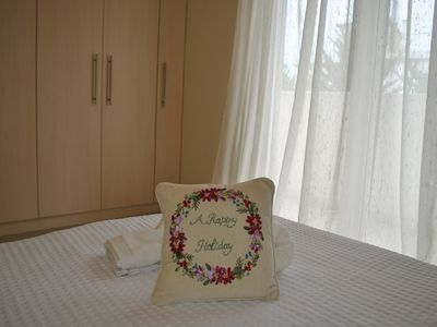Photo for Athens Riviera sunny cosy flat with garden-30' from Athens downtown/airport/port