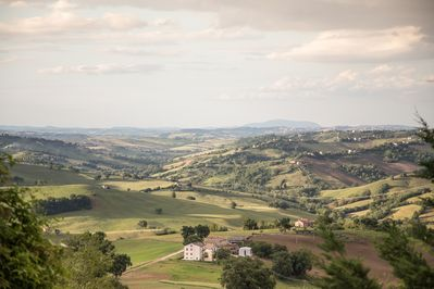View from the garden over the beautiful local Le Marche countryside