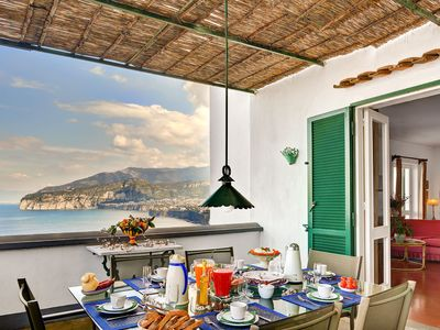 Photo for Il Gioiello 7 bedrooms villa with Sea views in Sorrento