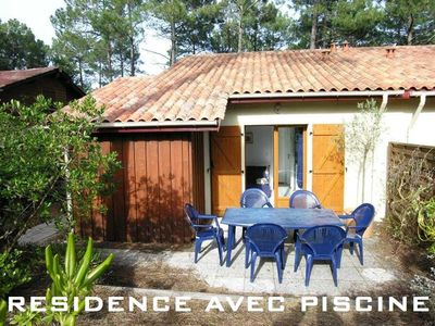 Photo for Small house with a floor for 4 people south area of Lacanau ocean
