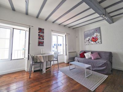 Photo for CHARMING Studio in Les Halles, Center Biarritz, 100M Great Beach + WiFi