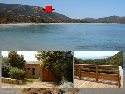 Photo for Small stone house, beautiful sea views Palombaggia