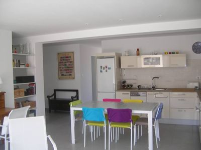 Photo for T3 all on foot Sanary center / new / airconditioned / quiet / terrace + balcony / parking