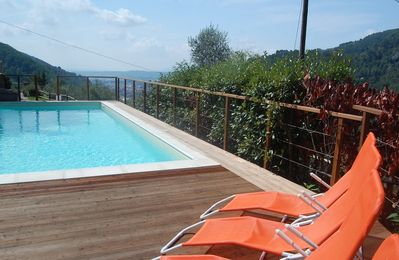 Photo for Beautifully restored villa with stunning views, private pool, hot tub