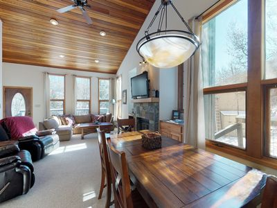 Photo for NEW LISTING! Spacious mountain townhome w/hot tub & fireplace-near skiing & golf